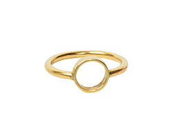 Nunn Design Antique Gold (plated) Open Frame Itsy Circle Ring Size 8