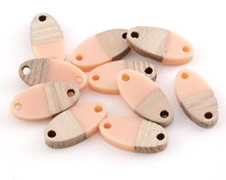 Wood & Angel Skin Resin Oval Focal Link 17x8.5mm
