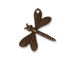 Vintaj Natural Brass Drifting Dragonfly (hole top right wing) 18x22mm