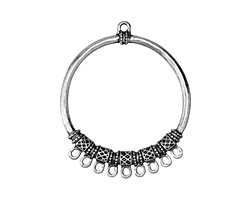 Zola Elements Antique Silver (plated) Decorative Hoop Chandelier Focal 46x55mm