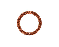 TierraCast Antique Copper (plated) Large Hammertone Ring 19mm
