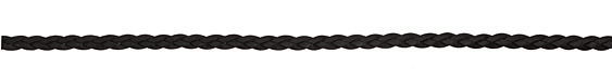 Black Flat Braided Leather Cord 5mm
