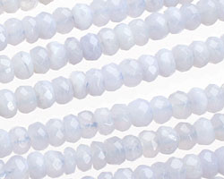 Chalcedony Faceted Rondelle 6mm