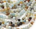 Black Gold Amazonite Faceted Round 4mm