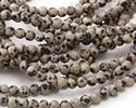 Dalmatian Jasper Round 4-4.5mm