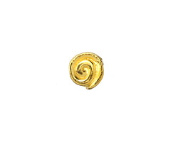 Greek Gold (plated) Spiral Bead 10mm
