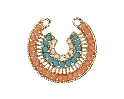 Zola Elements Gold (plated) Palm Springs Horseshoe Pendant 30x29mm