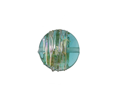 A Beaded Gift Teal Luxe Coin 15mm