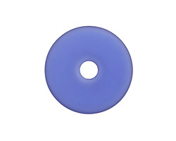 Royal Blue Recycled Glass Donut 34mm