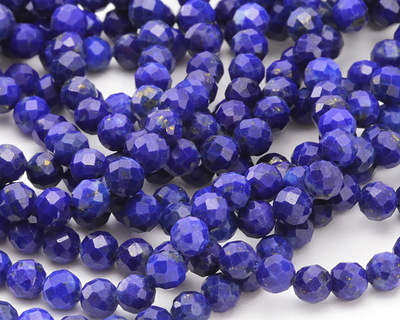 Lapis (A) Faceted Round 4.5mm