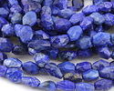 Lapis Faceted Rice 10-14x8-10mm