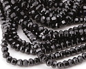 Black Tourmaline Step Cut Rondelle 4mm