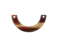 Zola Elements Brown Sugar Acetate U-Shape Link 30x15mm