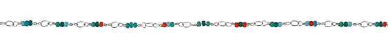 Zola Elements Cactus Flower Seed Bead Link Silver Finish Chain