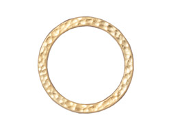 "TierraCast Gold (plated) 1"" Hammertone Ring 25mm"