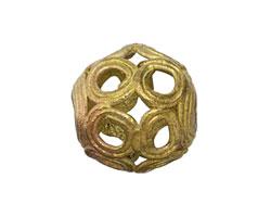 African Brass Circles Round 21-23mm