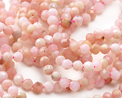 Pink Opal Faceted Round 4mm