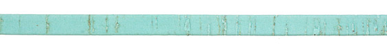 Pale Turquoise Portuguese Cork Cord Flat 10mm