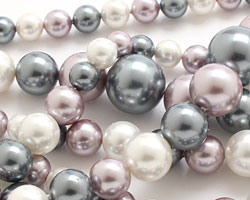 Winter Shell Pearl Mix Graduated Round 8-16mm