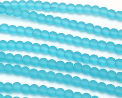 Turquoise Bay Recycled Glass Round 6mm