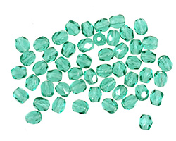 Czech Fire Polished Glass Emerald Round 3mm