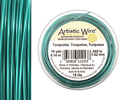 Artistic Wire Turquoise 18 gauge, 10 yards