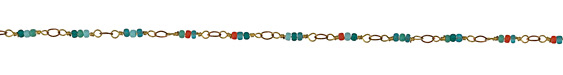 Zola Elements Cactus Flower Seed Bead Link Brass Chain