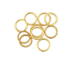 Satin Hamilton Gold (plated) Round Jump Ring 8mm, 18 gauge