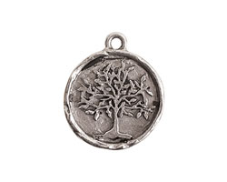 Nunn Design Antique Silver (plated) Tree of Life Charm 20x25mm