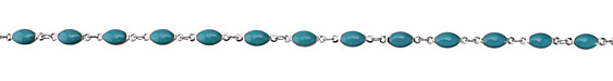 Zola Elements Turquoise Oval Link Imitation Rhodium (plated) Chain