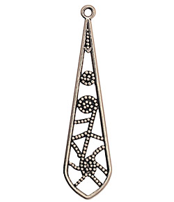 Stampt Antique Pewter (plated) Beaded Web Dangle 13x50mm