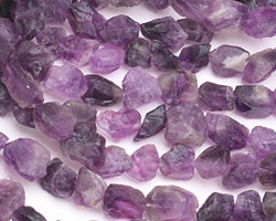 Dogtooth Amethyst Rough Nugget 9-18x12-14mm