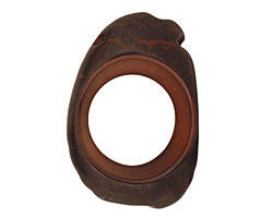 Tagua Nut Espresso Open Slice (side drilled) 33-45x24-36mm