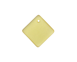 Desert Gold Recycled Glass Curved Diamond Square Pendant 18mm