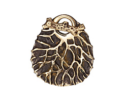 Saki Bronze Tree Branch Toggle Clasp 42x36mm, 25mm bar