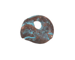 Greek Copper Patina Whale Pendant 21mm