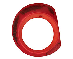 Tagua Nut Coral Open Slice 33-45x24-36mm