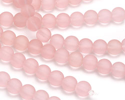 Blossom Pink Recycled Glass Round 8mm