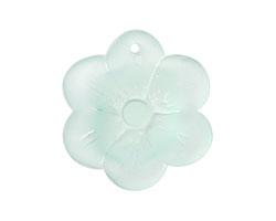 Seafoam Recycled Glass 6 Petal Flower 29mm