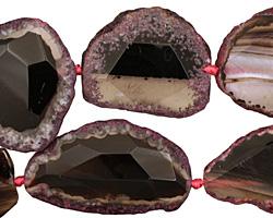 Violet Agate Natural Edge Faceted Slab 44-67x27-47mm