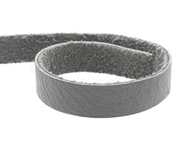 "TierraCast Light Gray Leather Strap 10""x1/2"""