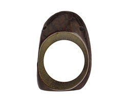 Tagua Nut Olive Open Slice (side drilled) 33-45x24-36mm