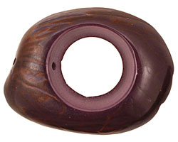 Tagua Nut Grape Open Slice 33-45x24-36mm