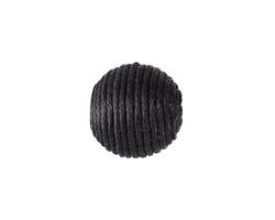 Black Thread Wrapped Bead 14mm