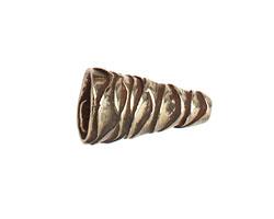 Saki White Bronze Wavy Cone 21x12mm