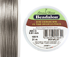 "Beadalon Bright .024"" 7 Strand Wire 100ft."