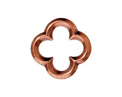 TierraCast Antique Copper (plated) Large Quatrefoil Link 21mm