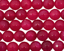 Ruby Red Agate Faceted Round 8mm