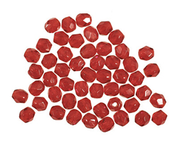 Czech Fire Polished Glass Ruby Round 3mm
