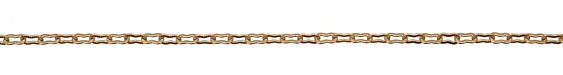Satin Hamilton Gold (plated) Etched Peanut Chain